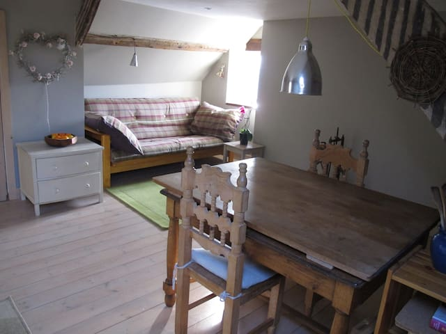 Cosy self contained flat upstairs in our townhouse - Totnes