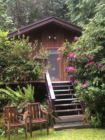 Pender Island wooded Cottage Splendor
