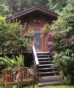 Pender Island wooded Cottage Splendor