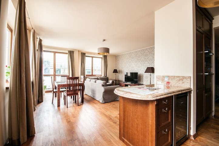 100m² apartment in the central part of Warsaw