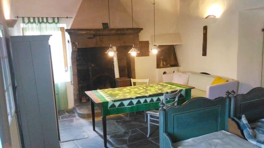 Gästezimmer mit Kamin