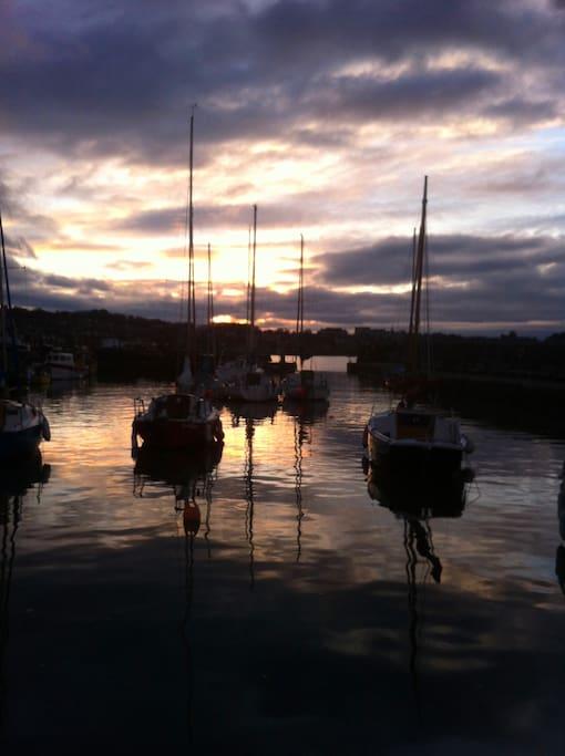 Beautiful Harbour at Sunset