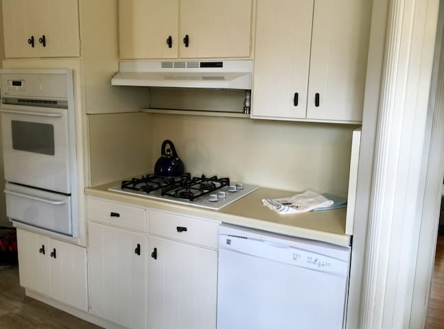 Gas cook top wall oven and dishwasher