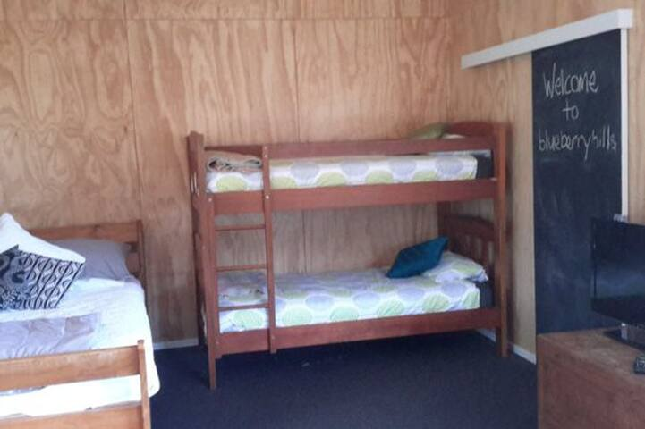 bunks and queen size bed