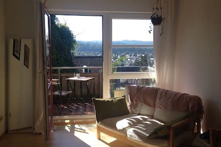 Zentrale Wohnung mit gutem Ausblick - Apartamento