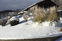La maison avec épisode neigeux