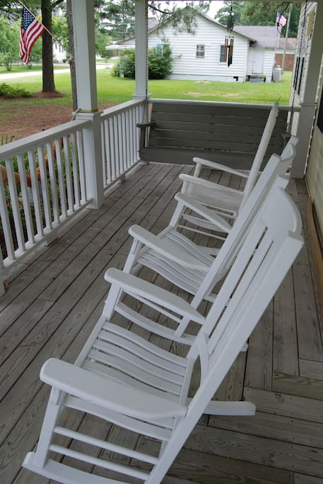 Front Porch w/rockers and swing