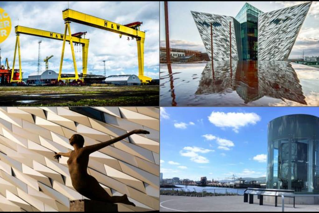 Belfast is a short 15 min drive away to the sights of titanic buildings and great shopping to be had and lots to do. Train goes direct as well:)