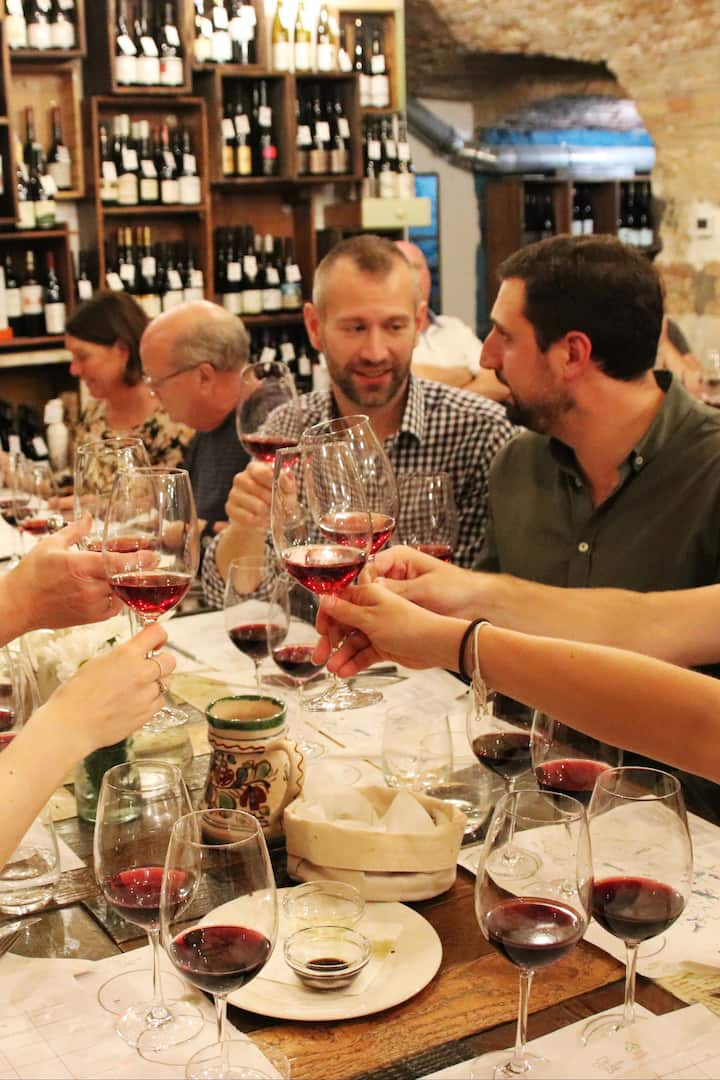 Guests enjoying a recent tasting