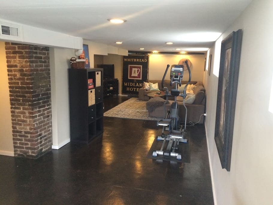 Very large living area, with elliptical.