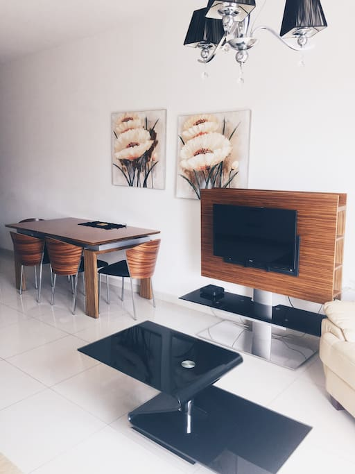All furniture is new and modern