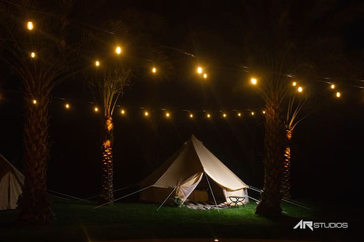Glamping Tent at festival campgrounds Rancho 51