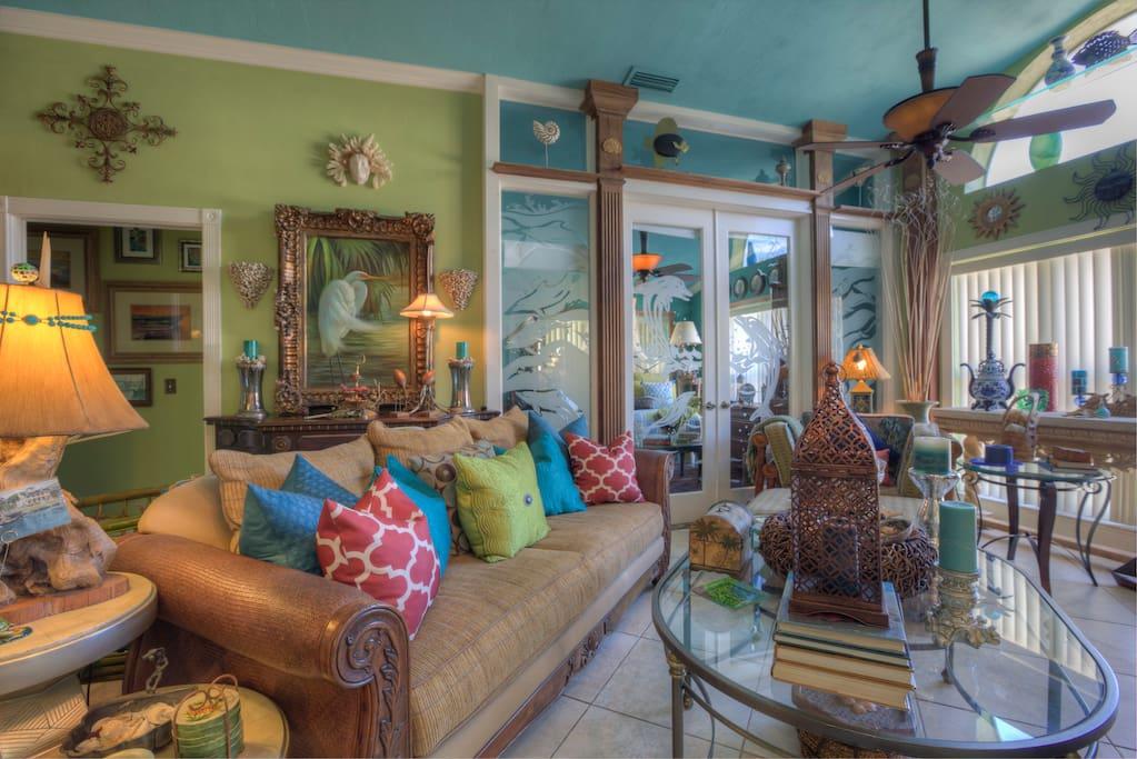 Turtle Beach Villa Living Room