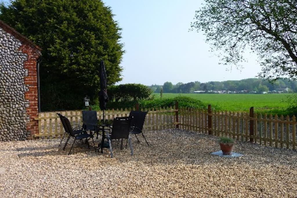 Stable Cottage - front seating area