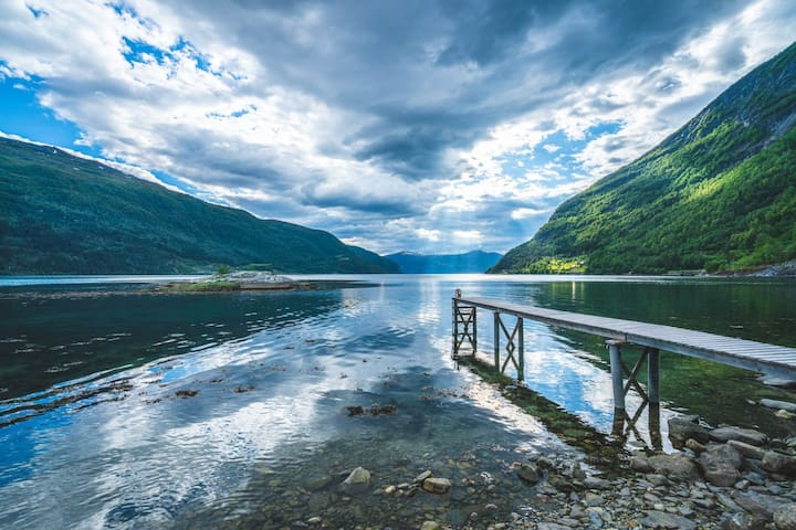 Stryn -Loen Fjord and view.