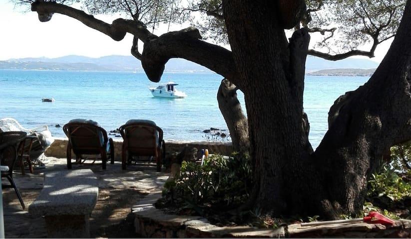 Magica casa con giardino sul mare