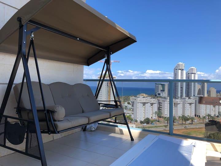 Appartement 130 m2 vue mer  agréable et bien situé