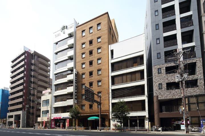 Cozy room with Single Bed×1/1min Awaza(阿波座)