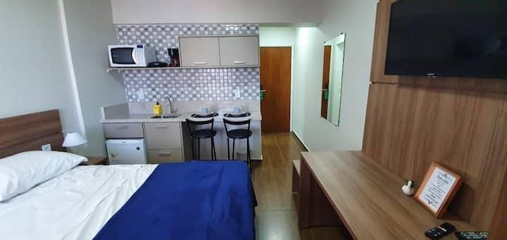 735 - flat moderno no centro de Brasília
