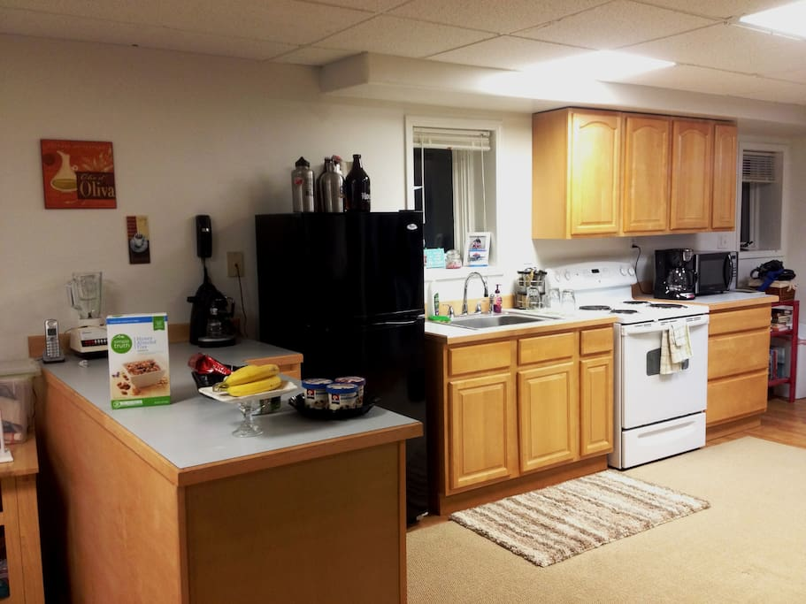 Full kitchen with all kinds of cookware