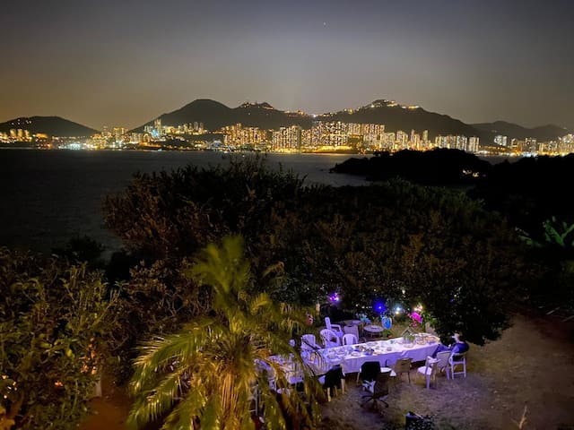 Tropical Paradise by the Sea:180°views, big garden
