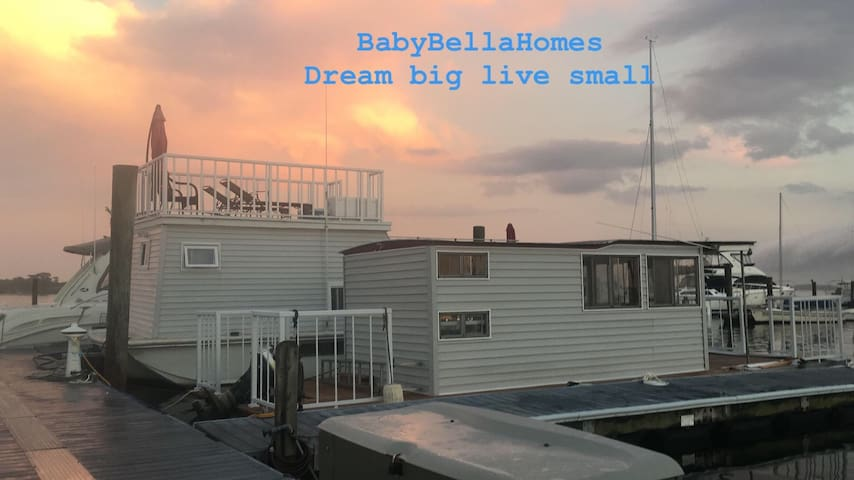Tiny homes on water  Dream big live small