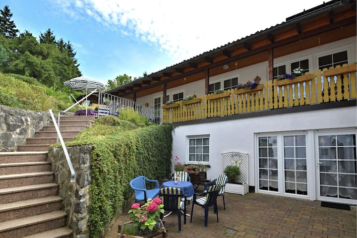 Modern and brightly furnished first floor apartment near Braunlage with balcony