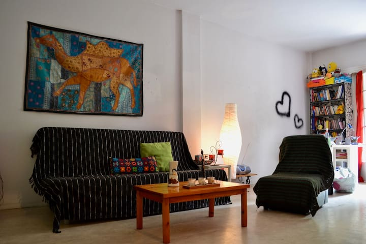 Sunny double room with balcony in Thessaloniki - Thessaloniki - Apartment