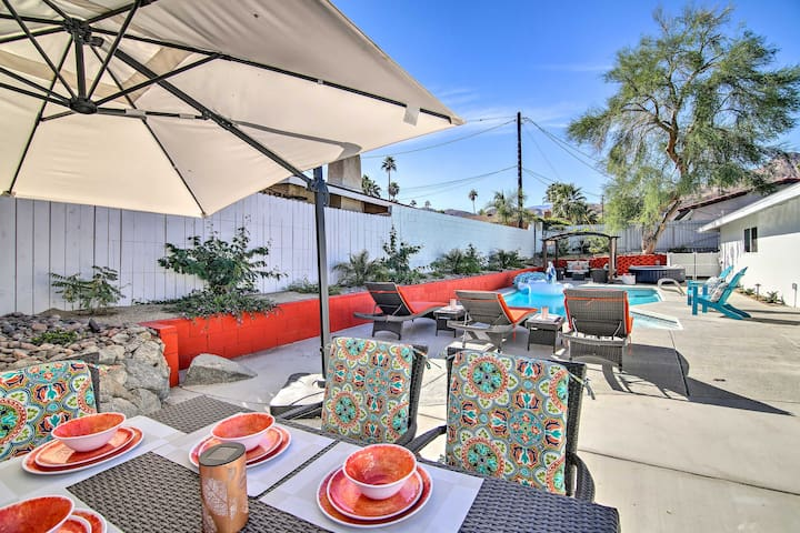NEW! Cathedral City Home w/Pool, Hot Tub+Mtn Views