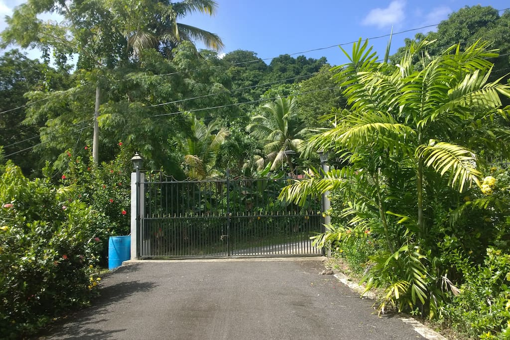 gated entrance to property