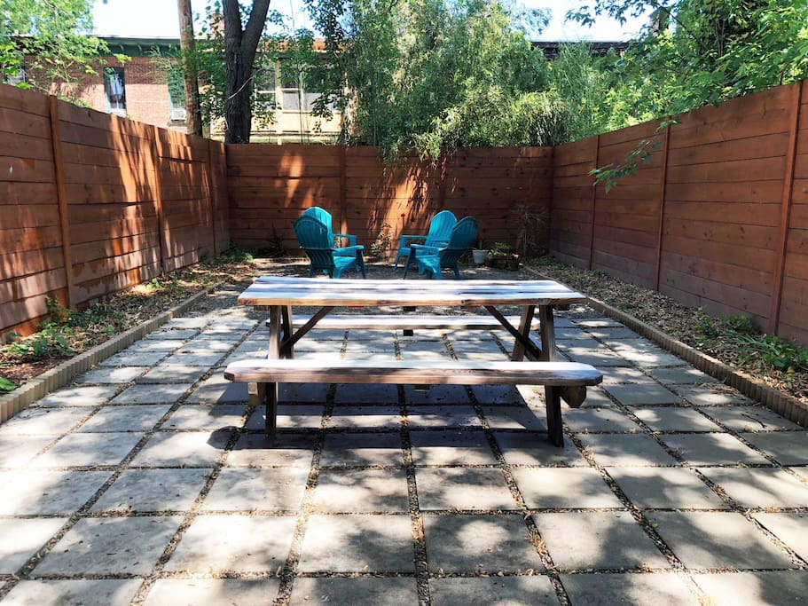 Backyard Space in the Summer