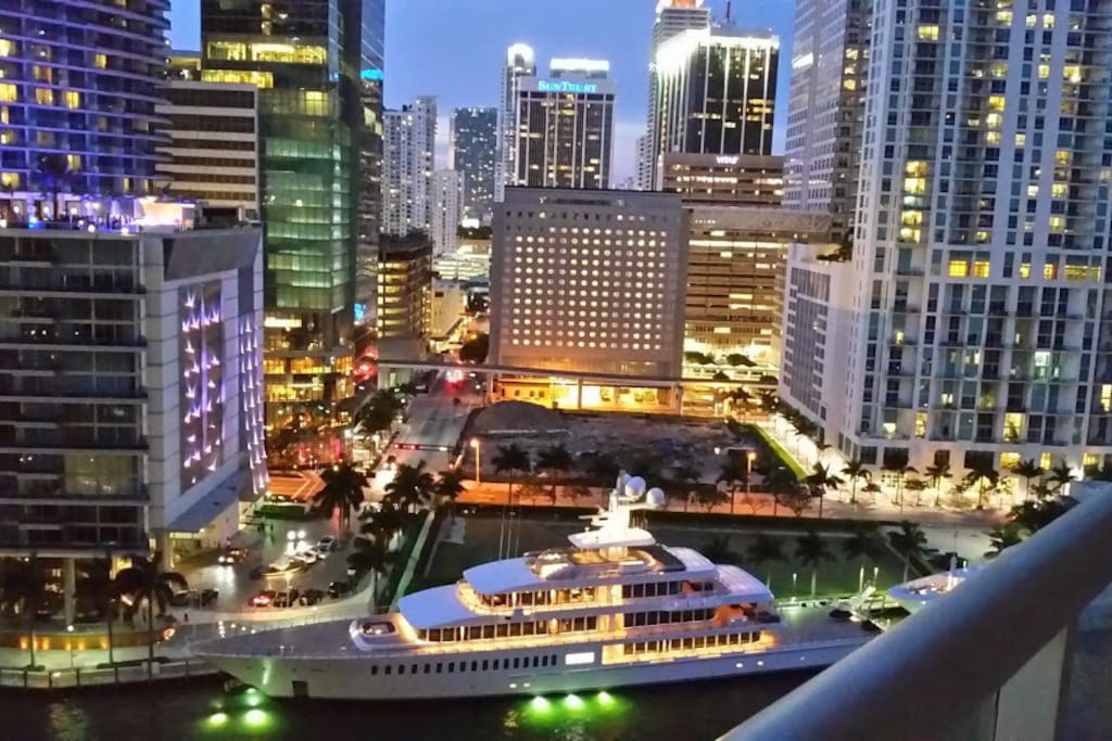 View of Downtown Miami from the balcony
