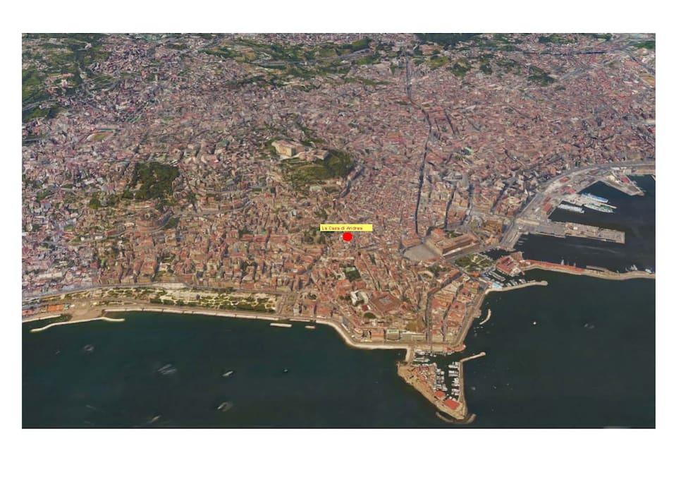 The location of La Casa di Andrea