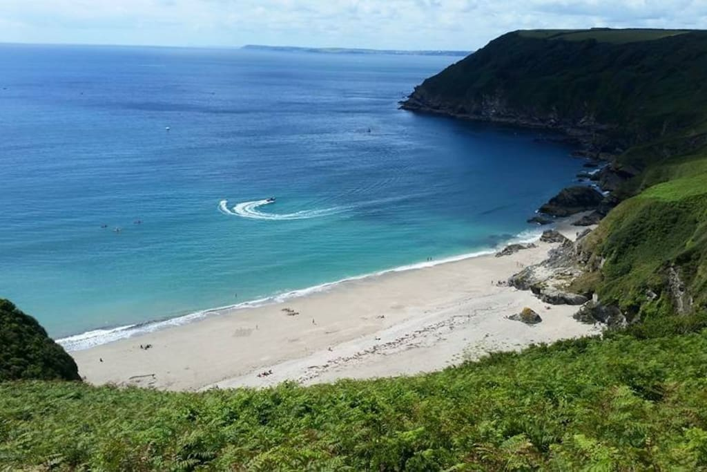 Lantic Bay. The beach just over the hill.