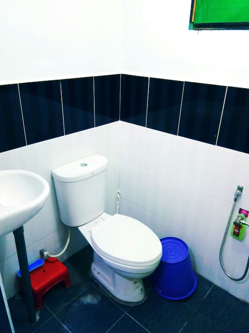 toilet inside modern bedroom