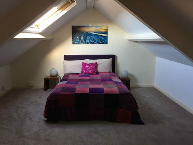 Attic room, sleeps two