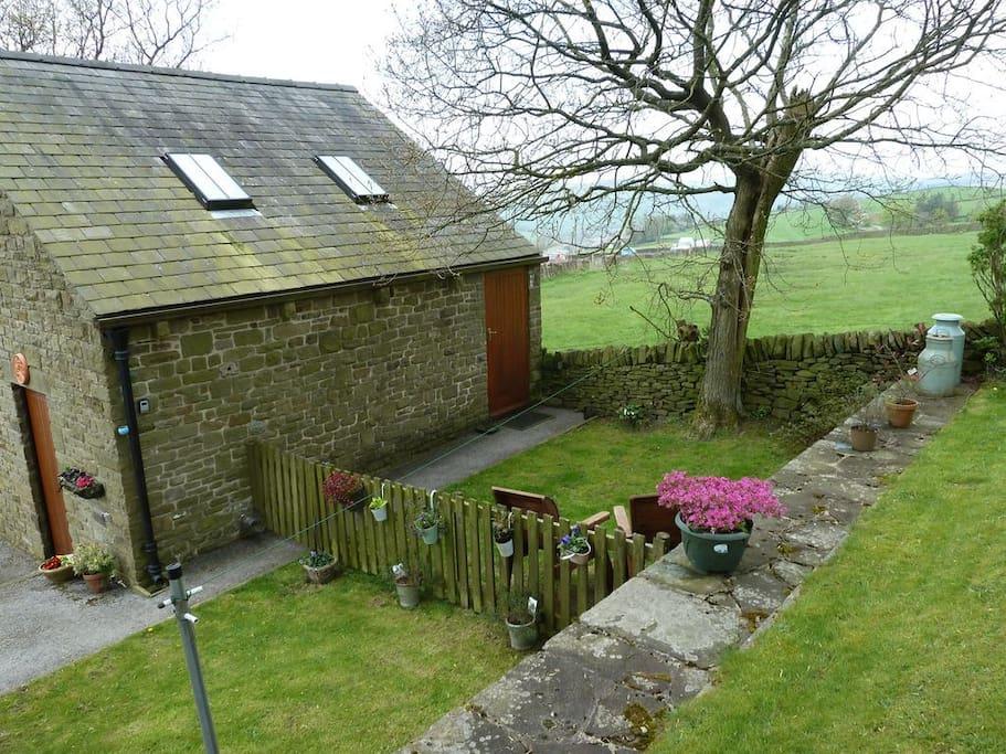 Private, fenced garden