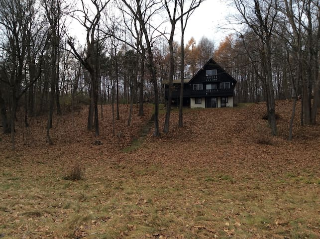 View of the house from the lower field.  This was taken in November.