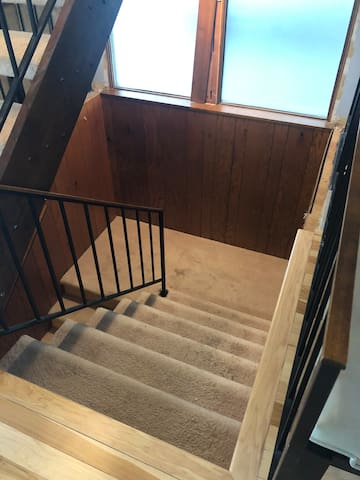 Stairs leading downstairs