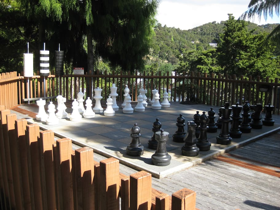 Child-size chess pieces