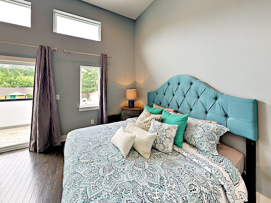 Master suite offers access to private master balcony.