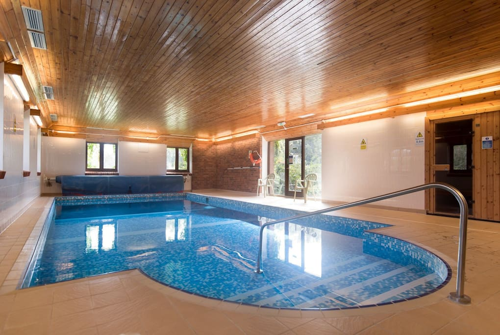 Communal indoor heated swimming pool