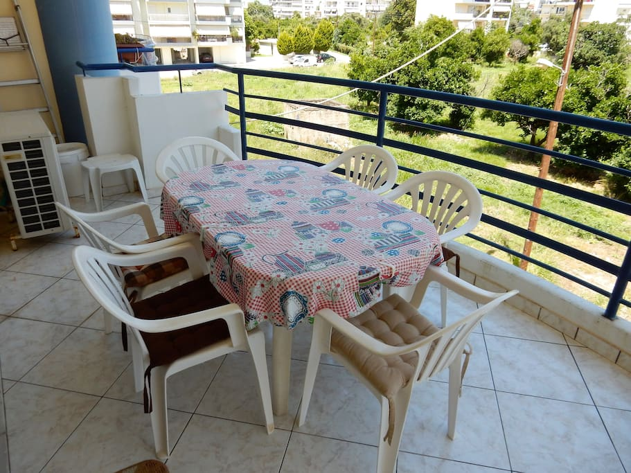 Outdoor Seating/Dining on the Balcony