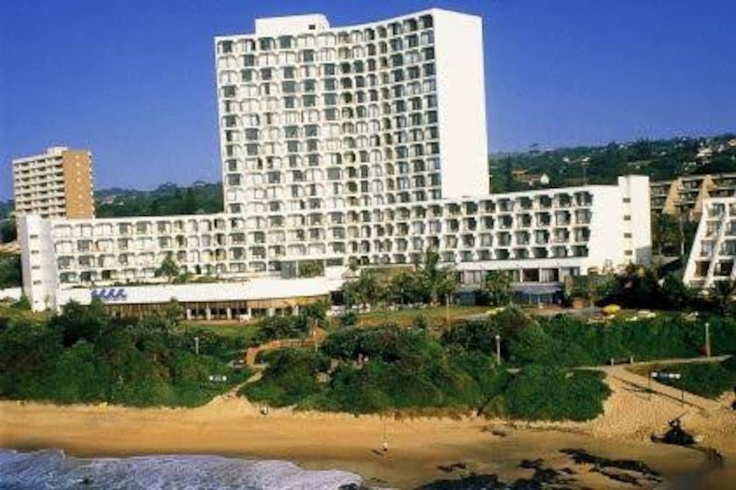 The Resort on the beach with private pools and restaurants.  Prices in South Africa are very reasonable compared to other resorts around the world