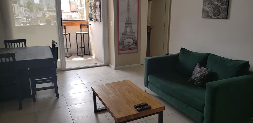 Apartment of 50m2 without stres with grill+parking