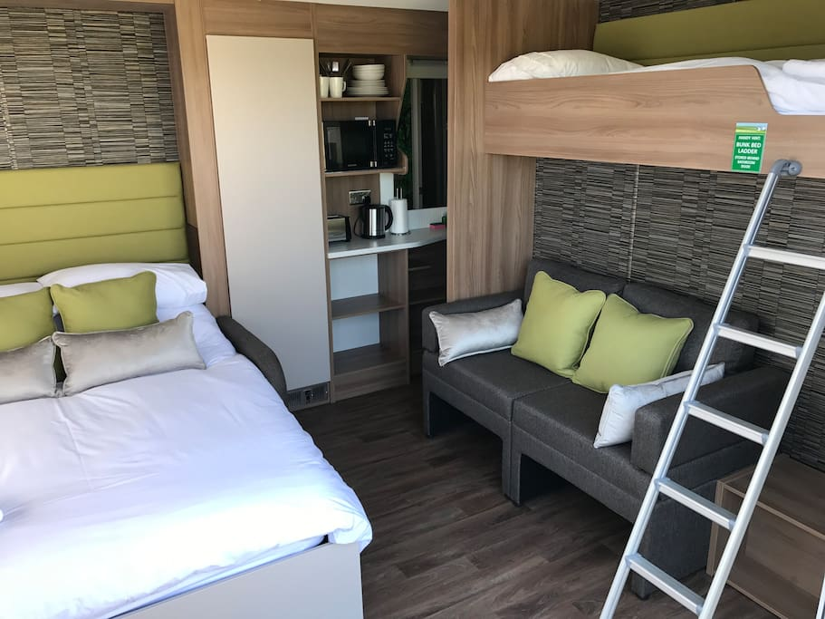 Sleeps 4. 2 adults and 2 children