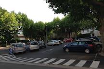 Parking a coté