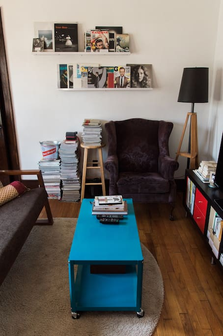 The living room is a great space to chill, get inspired, or even create (great for photographers).