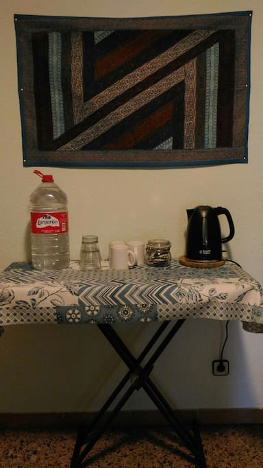 Water, tea and instant coffee always available for our guests