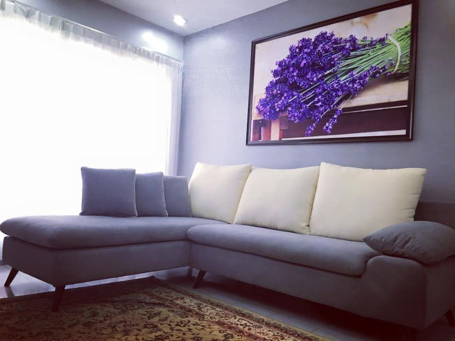 Cosy couch to chill, relaxing